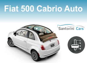 rent a car sanorini fiat500